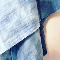 m4y Hand Dyed  W-Gauze  Throw /Blue