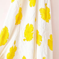 """Bamboo Swaddle """"Golden Hibiscus """" Coco Moon"""