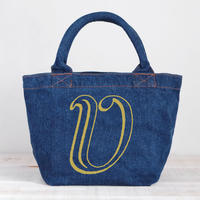 Organic Denim Tote V / Ginger Beach Inn Original