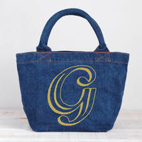 Organic Denim Initial Tote G / Ginger Beach Inn Original