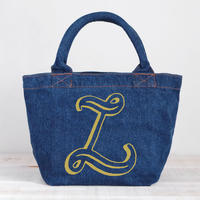 Organic Denim Tote L / Ginger Beach Inn Original