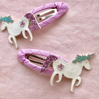 Glitter unicorn Clips