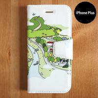 手帳型iPhoneケース「くまごろーの森」Plus用
