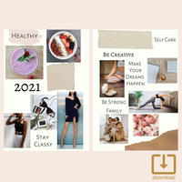 Vision Board【ビジョンボード】+ コラージュ用写真2枚(A5)  ---From GOAL PLANNER---