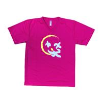 【ラスト1点】Vネック・ドライTシャツ-Cライン(男女兼用)/ホットピンク Lサイズ