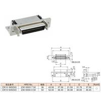 ハーフピッチコネクター DX10-36S(50)