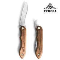 FEDECA 折畳式料理ナイフ ウォルナット (ステンレス鋼 / 銀紙三号)