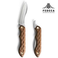 FEDECA 折畳式料理ナイフ 名栗ウォルナット (ステンレス鋼 / 銀紙三号)