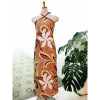 【即納セール】クロスネック ロングスリットドレス ベージュ D-23-A0290 9号 通常価格¥16,200