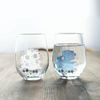 冷感雪結晶 フリーグラス ペアセット 箱入 / 丸モ高木陶器<CE-032>