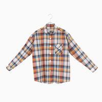 214018 コットンリネンマドラスチェックシャツ