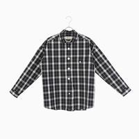204823 タータンチェックラウンドカラーシャツ