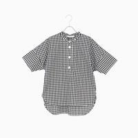 214330 先染タイプライタースタンドカラーシャツ