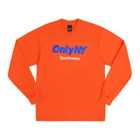 Only NY / Sportswear Logo L/S T-Shirt (Orange)