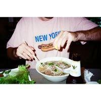 Only NY / New York Hotdog T-Shirt ( Pale Berry )