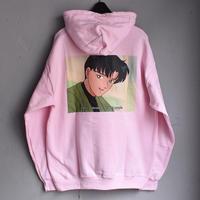 """LABRAT / Manga logo """"straight"""" Hoodie  (Pink)"""