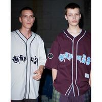 Black Weirdos / Mantra Baseball Shirt (D Purple)