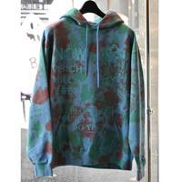 Black Weirdos / JAIL Tiedye Hooded Sweatshirt (BLUE)
