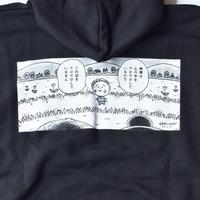 """LABRAT / LABRAT×coji coji """"god"""" hoodie(Black)"""