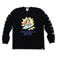 RUTSUBO /  CAR WASH LST-Shirts (RUTSUBO×aimi odawara) BLACK