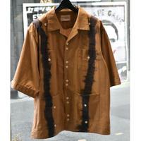 Black Weirdos / Tie Dye Cuba Shirt (Brown)