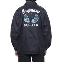 HUF / SAYANORA COACHES JACKET (BLACK)