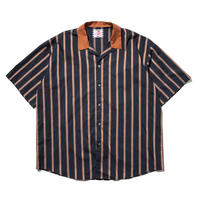 SON OF THE CHEESE / Stripe Cleric Shirt(NAVY)