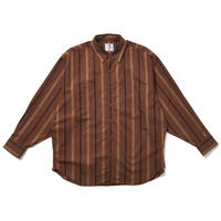 SON OF THE CHEESE / Stripe Big Shirt(BROWN)