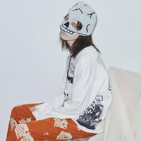 Black Weirdos / Layered Sweatshirt (White)