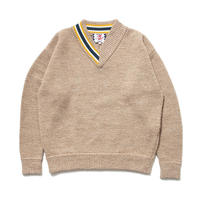 SON OF THE CHEESE / HALF V sweter (BEIGE)