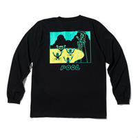 RUTSUBO / Pool LST-Shirts(RUTSUBO×YUSUDA) BLACK