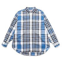 SON OF THE CHEESE /Big Check Shirt(BLUE)