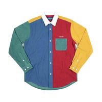 Only NY /CORDUROY COLOR BLOCK SHIRT (MULTI)