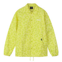 HUF / NEO LEOPARD COACH JACKET (HOT LIME)
