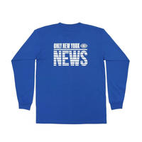 Only NY / Eyewitness L/S T-Shirt(Royal)