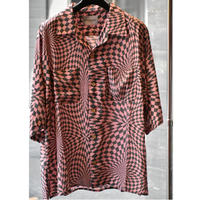 Black Weirdos / Checker Aloha Shirt (PINK)