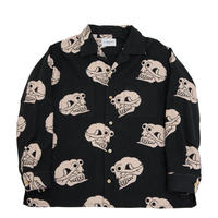 Black Weirdos / Skull-Pattern Flannel Shirt (Black)