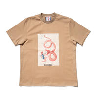 SON OF THE CHEESE / neon queen TEE(BEIGE)