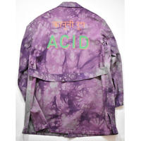 Black Weirdos / TieDye Shop Coat (PURPLE)