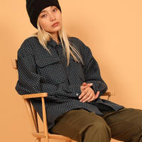 SON OF THE CHEESE / Dot wool Shirt ( BLUE )