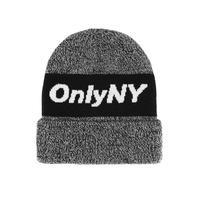 Only NY / Knit Logo Beanie(Black Marl)