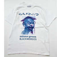 Black Weirdos / Ganziiz S/S Tee  (WHITE)