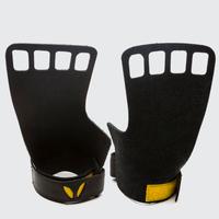 VICTORY GRIPS / MENS : LEATHER 4-Finger BLACK