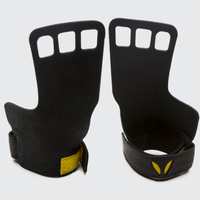 VICTORY GRIPS / MENS : LEATHER 3-Finger BLACK