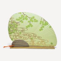 オリジナル団扇セット 青楓