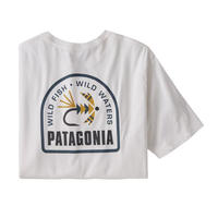 patagonia(パタゴニア) メンズ・ソフト・ハックル・オーガニック・Tシャツ WHI  [37412]