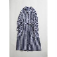 Nigel Cabourn WOMAN WORKER DRESS - LINEN HICKORY  ダークネイビー [NIG039]