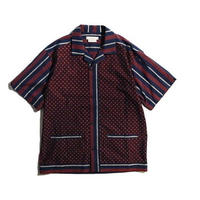 norbit Regimental Stripe×Fine Pattern Panel Shirts [HNSH-013-W]