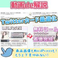 WordPressのアイキャッチやSTORES.JPのアイテム画像をTwitterカードに最適化する解説動画