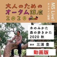 期間限定配信(12/13まで) 三浦豊さん「木のみかた 森の歩きかた 2020秋」動画(大人のためのオータム講座2020)